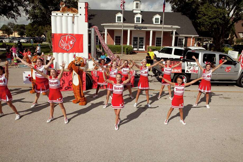 The Katy Junior High Cheer squad took overall honors at the annual Katy RIce Harvest Festival.