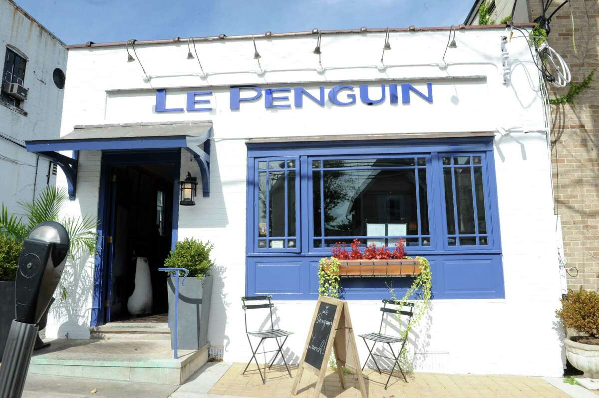 Le Penguin, shows the exterior of the bistro in Greenwich, Conn.,Tuesday, Oct. 8, 2013.
