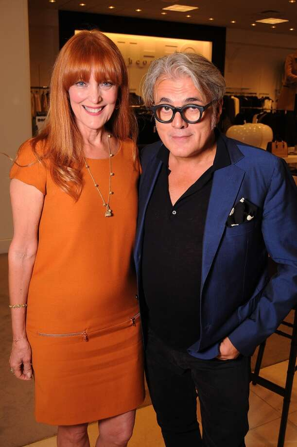 Gracie Cavnar, the founder and president of the Recipe for Success Foundation, and shoe designer Giuseppe Zanotti Photo: Dave Rossman, For The Houston Chronicle