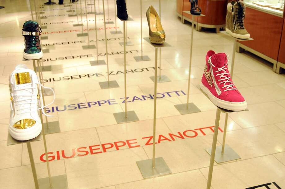 A display of Giuseppe Zanotti shoes Photo: Dave Rossman, For The Houston Chronicle