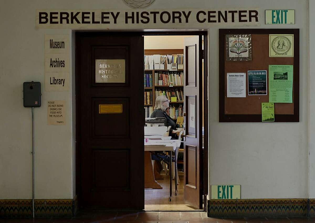 The History Center on Center Street in Berkeley, Calif where the exhibit will be displayed Thursday October 10, 2013. Members of the Berkeley Historical Society are setting up a history of Berkeley and the McGee neighborhood where communes used to flourish.
