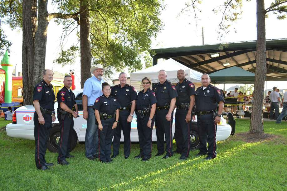 Commissioner Jack Cagle, Constable Ron Hickman and his deputies participated in the National Night Out 2013 event. Photo: Photo Courtesy Of Harris County Precinct 4