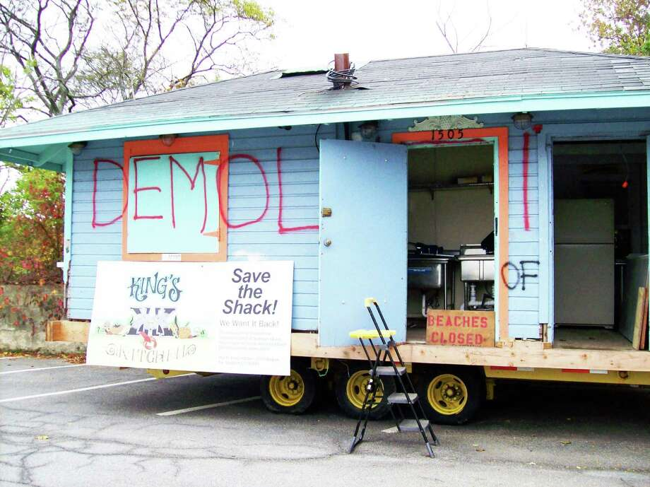 The concession stand that was a fixture at Southport Beach in Fairfield for decades is now at Buryiing Hill beach in Westport and is, according to its owner, about to be moved again. Photo: Anne M. Amato / Westport News