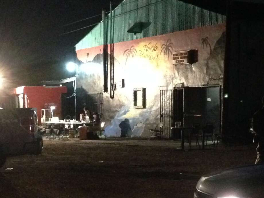 Nuevo Amanecer, in the 5600 block of Telephone Road, was one of the nightclubs raided by federal officers on Thursday night. (Mike Glenn/Chronicle)