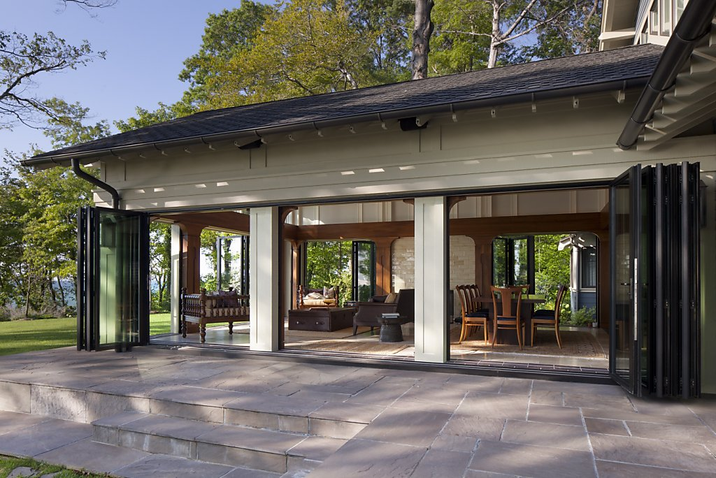 Sliding glass walls blend efficiency esthetics sfgate for Sliding window wall