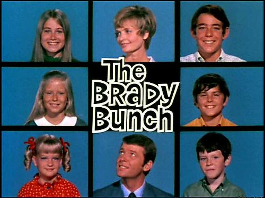 A large blended family with six kids is at the center of the popular 1970s sitcom 'The Brady Bunch.'