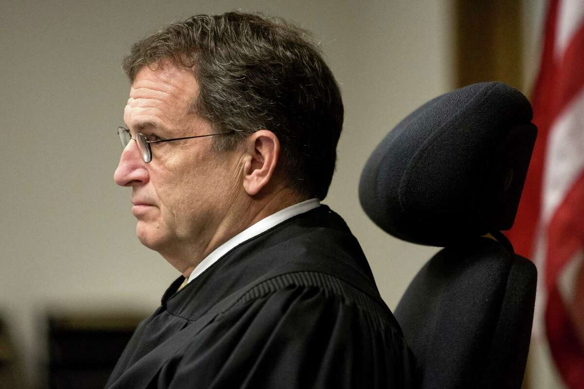 King County Superior Court Judge Michael Hayden during the sentencing of Andrew Patterson in the 2012 murder of Justin Ferrari.