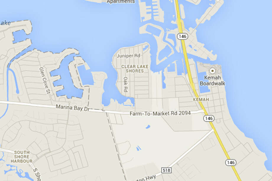 Clear Lake Shores between League City and Kemah – Lupe Leyva Chavez on Facebook Photo: Google Maps