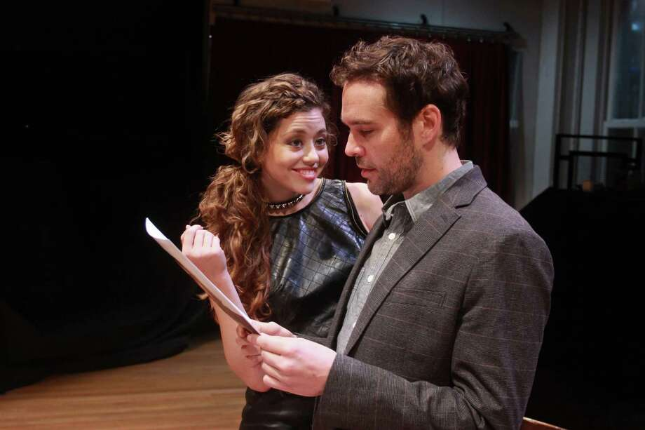 "Nicole Rodenburg stars as Vanda and Michael Bakkensen as Thomas in the Alley Theatre's production of ""Venus in Fur."" Photo: Gary Fountain, Freelance / Copyright 2013 Gary Fountain."