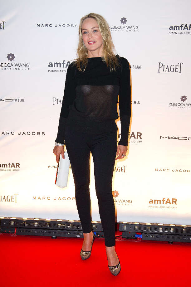 "Of course, some ""malfunctions"" are intentional. Here's Sharon Stone at the ""amfAR Inspiration Night"" in Paris on June 28, 2012. Photo: Kristy Sparow, Getty Images / 2012 Getty Images"