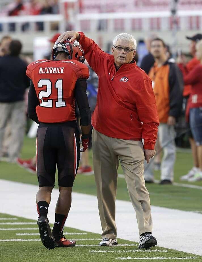 Former 49ers coach Dennis Erickson is a co-offensive coordinator at Utah. Photo: Rick Bowmer, Associated Press