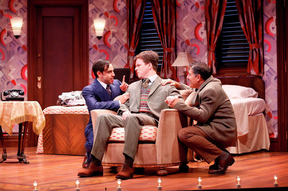 From left, Ben Steinfeld, Eric Bryant and Jim Bracchitta in a scene from ìRoom Service,î  playing at the Westport Country Playhouse through Oct. 27. Photo: Contributed Photo / Westport News