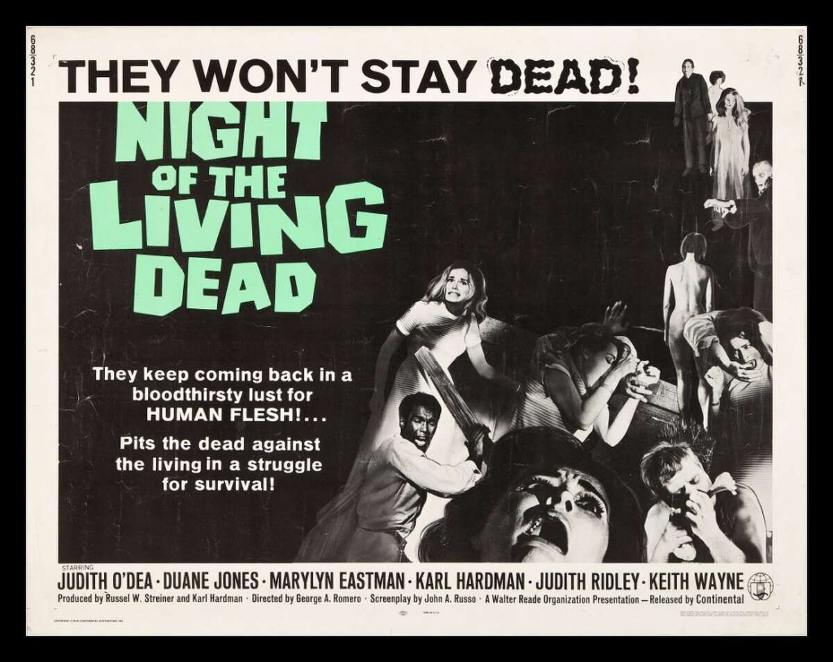 The 1968 film that started it all. Romero's original zombie flick featured Judith O'Dea and Duane Jones as unfortunate survivors of a zombie outbreak in rural Pennsylvania. Unlike the big budget zombie films of today, the cause of the outbreak is left by the wayside as the film depicts gory, violent scenes of zombies eating the living. Not only did the film gross $18 million on a $100k budget, it also kick-started the entire pop-culture fascination with zombies.