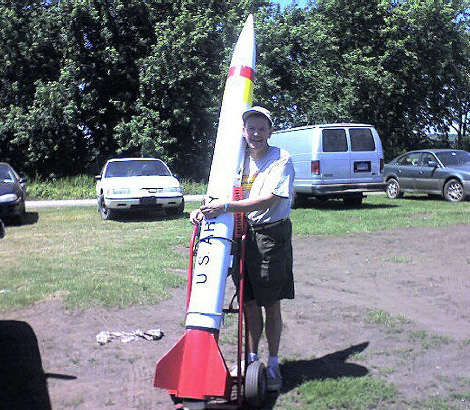 This photo posted on Facebook shows Joseph C. Callahan, whose Bronson Road property was the site of a hazmat emergency Oct 1. with a rocket, which his lawyer says was a hobby that got out of control. Photo: Contributed Photo / Fairfield Citizen contributed