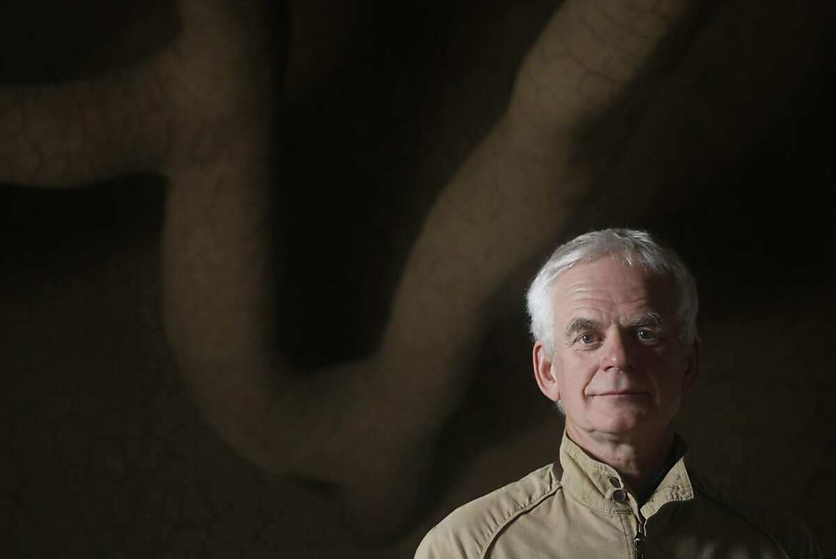 """Andy Goldsworthy says his piece is """"a very difficult work to unravel, yet it feels so right."""""""