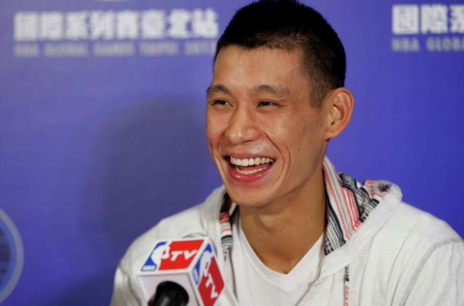"Rockets guard Jeremy Lin says he ""never would have envisioned"" returning to his parents' homeland of Taiwan to play an NBA game. Photo: Wally Santana, STF / AP"