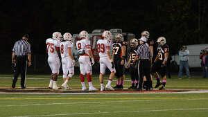 Shelton football game against Fairfield Prep at Shelton High School on Friday, Oct. 11, 2013.