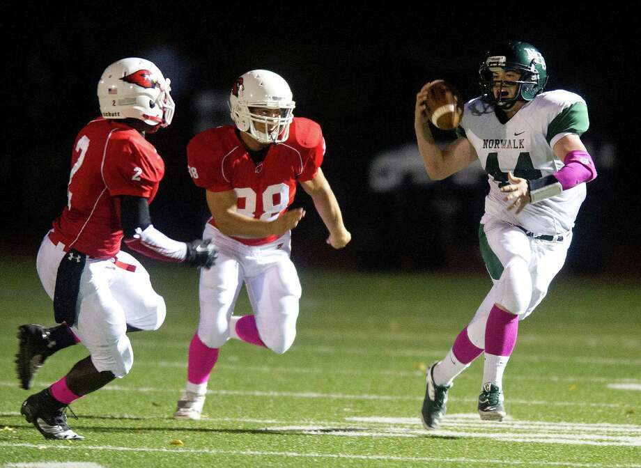 Friday's football game at Greenwich High School against Norwalk High School on October 11, 2013. Photo: Lindsay Perry / Stamford Advocate
