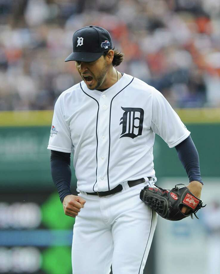 Detroit's Anibal Sanchez might be the AL ERA champion (2.57), but he spent most of the year as the Tigers' No. 3 starter. Photo: Lon Horwedel, FRE / AP