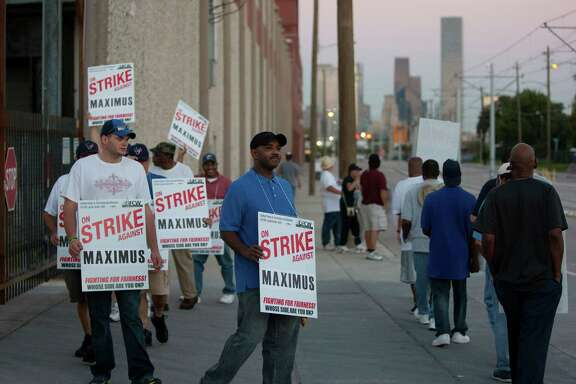 Employees from Maximus Coffee Group, represented by the United Food and Commercial Workers Local 455, picket last week.