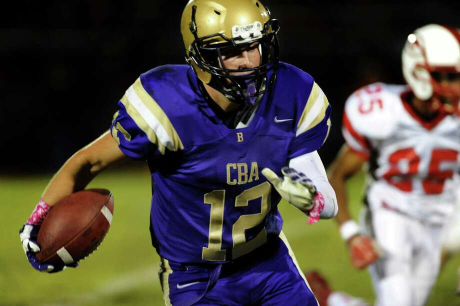 CBA's Ryan O'Hagan carries the ball during their football game against Guilderland on Friday, Oct. 11, 2013, at Christian Brothers Academy in Colonie, N.Y. (Cindy Schultz / Times Union) Photo: Cindy Schultz / 00024204A