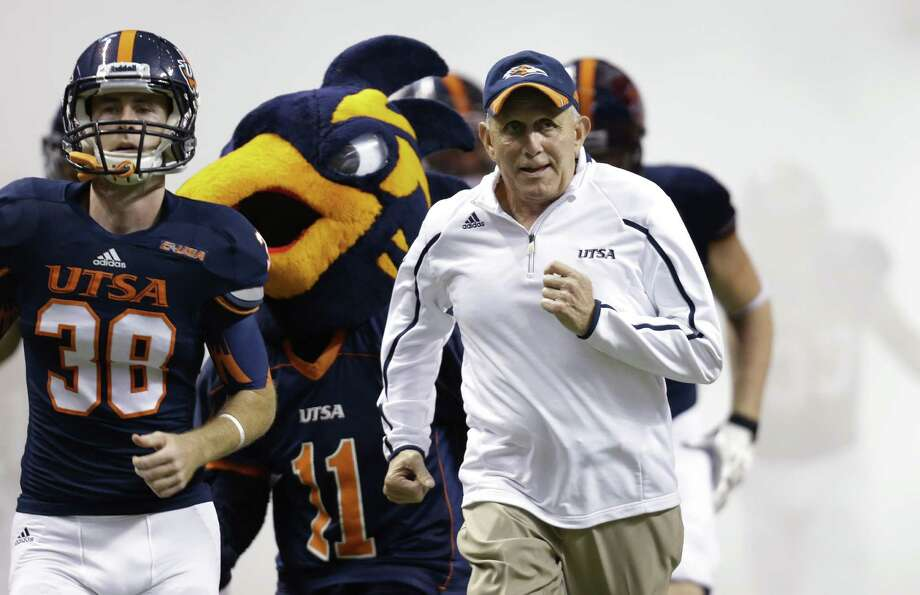 """Coach Larry Coker and UTSA have endured back-to-back blowouts. """"We're going to encourage (the players) ... ,"""" Coker said. """"This is not the time to beat them up."""""""