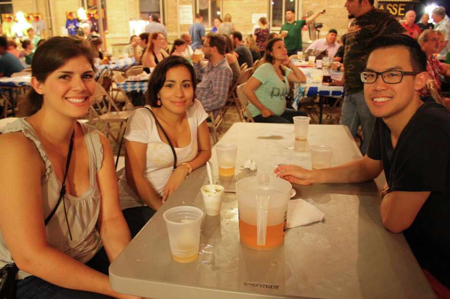 Revelers celebrate Oktoberfest at Beethoven Maennerchor on Friday, Oct. 12, 2013. Photo: Libby Castillo / For MySA.com