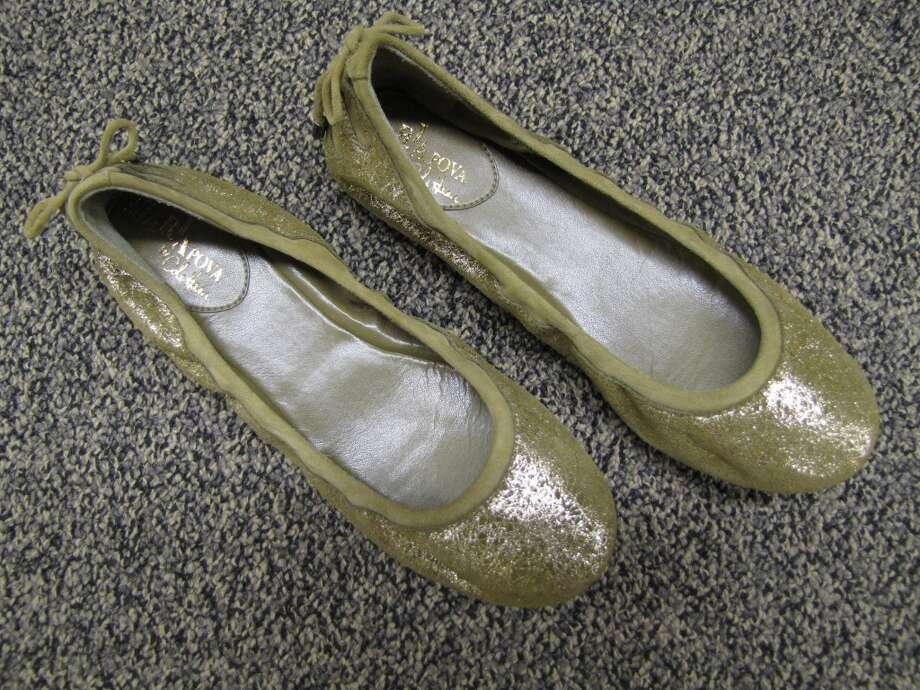 Metallic ballet flat, S & M Family Outlet, Beaumont, $79 Photo: Cat5