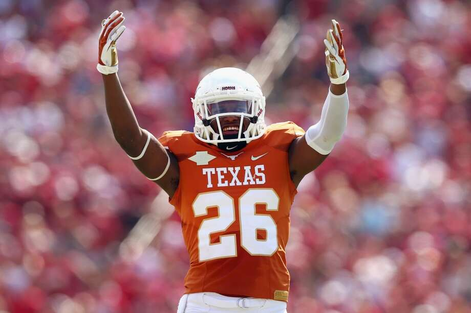 Adrian Colbert celebrates after a play in the fourth quarter. Photo: Tom Pennington, Getty Images
