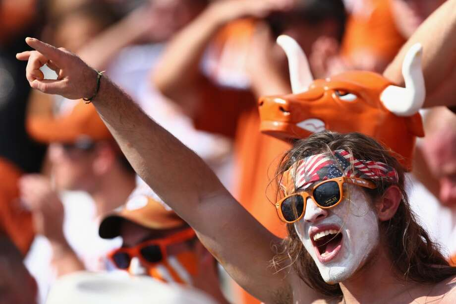 Texas fans celebrate during the game. Photo: Tom Pennington, Getty Images