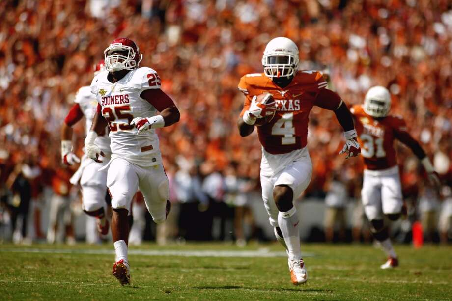 Texas 36, Oklahoma 20Record: 4-2Daje Johnson returns a punt 85 yards for a touchdown during the second half. Photo: Chelsea Purgahn, Associated Press