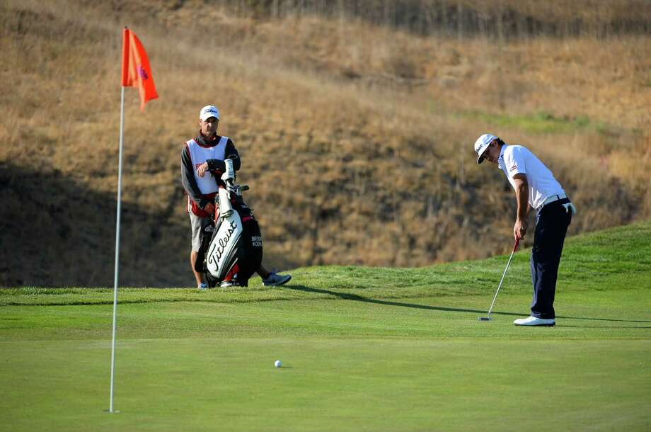 SAN MARTIN, CA - OCTOBER 12:   Brooks Koepka attempts a putt on the 17th hole during round three of the Frys.com Open at the CordeValle Golf Club on October 12, 2013 in San Martin, California.  (Photo by Robert Laberge/Getty Images) ORG XMIT: 177614915 Photo: Robert Laberge / 2013 Getty Images