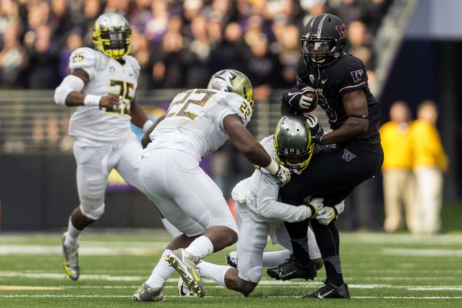 """The Huskies are moving up in the Pac-12 -- problem is, they're still not up to the level of Stanford, and they certainly aren't able to compete with Oregon for four quarters.  The Dawgs entered Saturday's rivalry contest ranked 16th in the country, looking for what would have been the biggest win in the Steve Sarkisian era over No. 2 Oregon. But Washington couldn't quite get it done, and the Ducks prevailed 45-24 in front of 71,833 fans at Husky Stadium.  """"It's a good team we lost to,"""" Sark said after the game. """"It's been back-to-back weeks of playing two really good football teams, and I think our kids have shown a great deal of competitive spirit. I think they've shown that we can play with those guys; we played with Stanford for 60 minutes and we played with these guys for three-and-a-half quarters.""""  A few days ago, we gave you five keys to the game. How did the Huskies stack up? Let's take a look. Photo: JORDAN STEAD, SEATTLEPI.COM"""