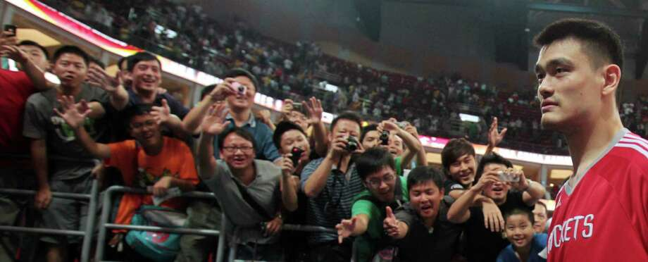 During the NBA China Games, then-Rockets center Yao Ming was a fan favorite. Photo: Billy Smith II, HC Staff / Houston Chronicle