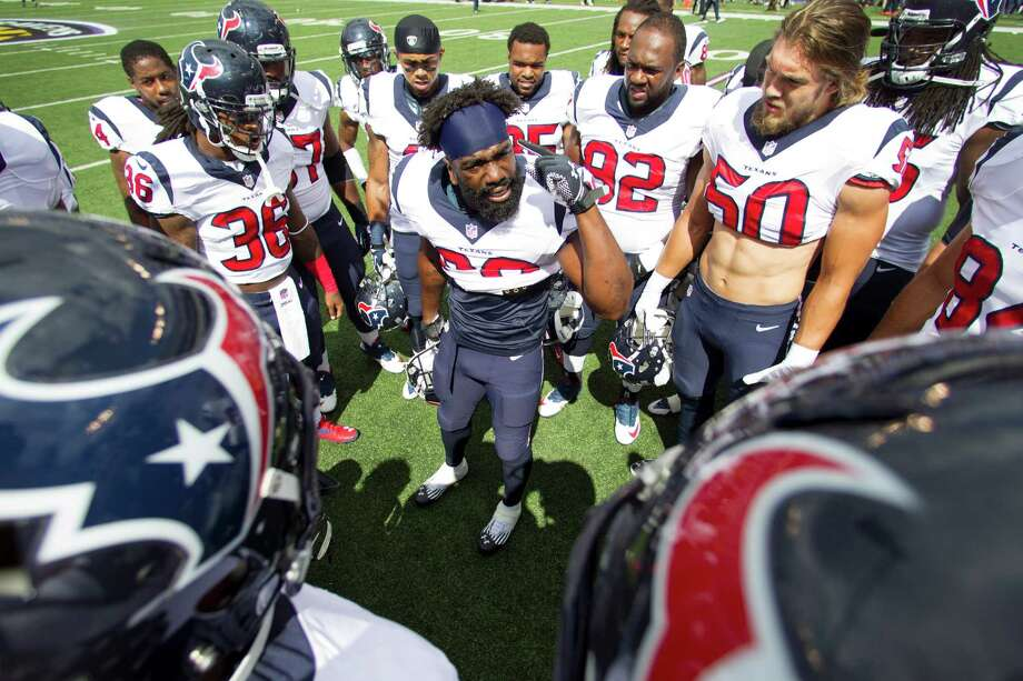 Having rallied his troops in Baltimore last year, safety Ed Reed knows exactly what to say to his Texans teammates following a 2-3 start. Photo: Brett Coomer, Staff / © 2013  Houston Chronicle