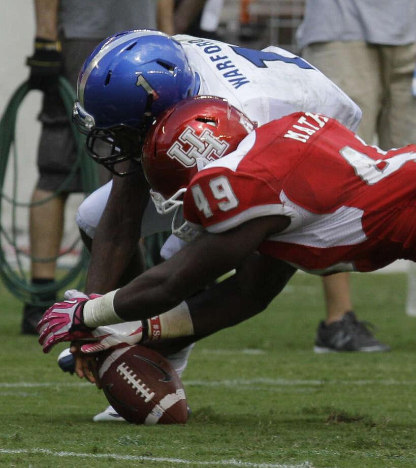 LB - Derrick Mathews, Houston, 6-0, 210, Jr., Houston (North Shore) Photo: Melissa Phillip / Houston Chronicle