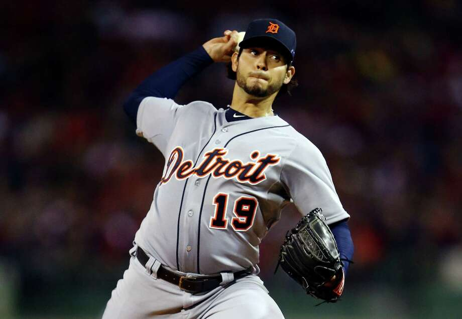 Tigers starter Anibal Sanchez was masterful in Game 1 of the ALCS on Saturday night at Fenway Park. Sanchez, the AL's regular-season ERA leader, struck out 12 in six innings. Four relievers finished the job. Photo: Al Bello / Getty Images