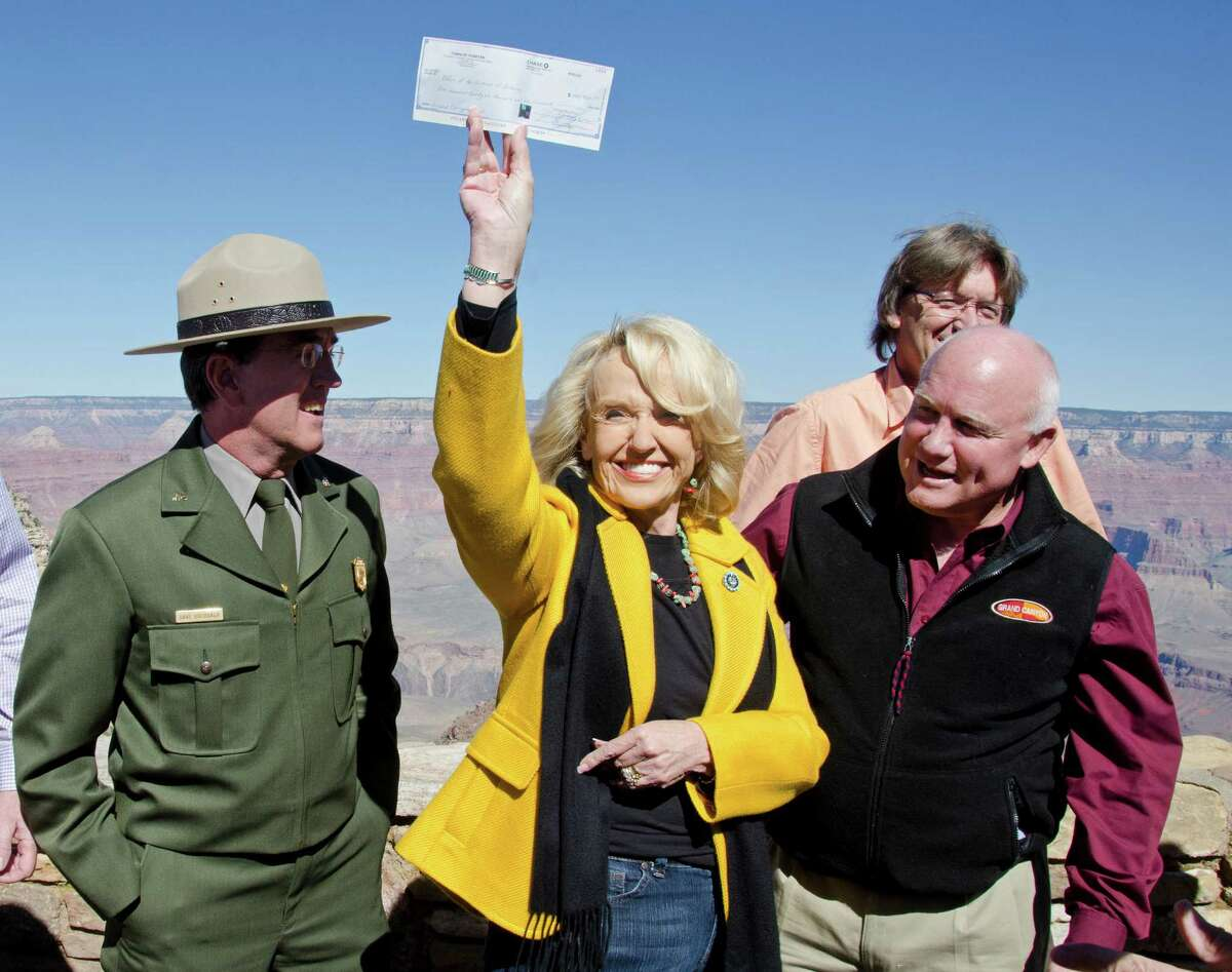 Jan Brewer, R-Ariz. has served as governor of Arizona since January 2009. Brewer will not be able to run for a second full four-year term in 2014 because of the Arizona Constitution which puts limits on governors to eight consecutive years in office. Source: Politico