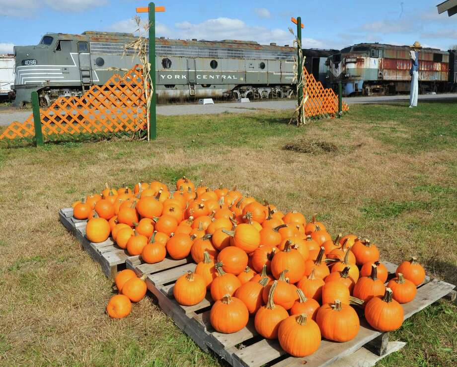 This is the Danbury Railway Museum Pumpkin Patch train rides in Danbury, Conn. Sunday, Oct. 13, 2013. Photo: Michael Duffy / The News-Times