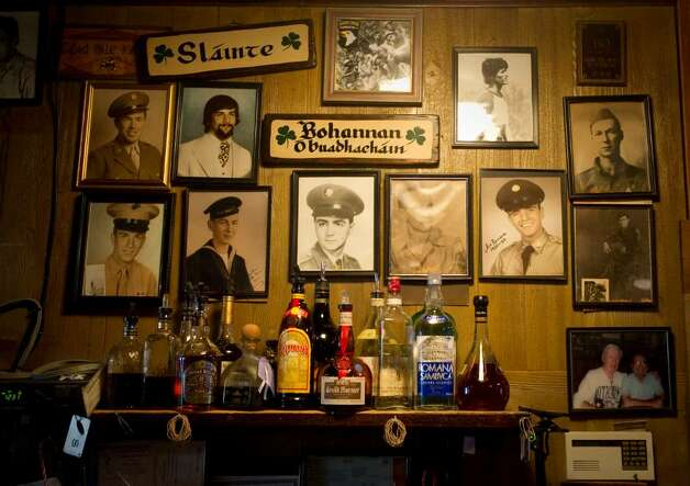 Old photographs and decorations on the walls at Colony Grill in Stamford, Conn. on Thursday, Jan. 21, 2010. Photo: Chris Preovolos / Stamford Advocate