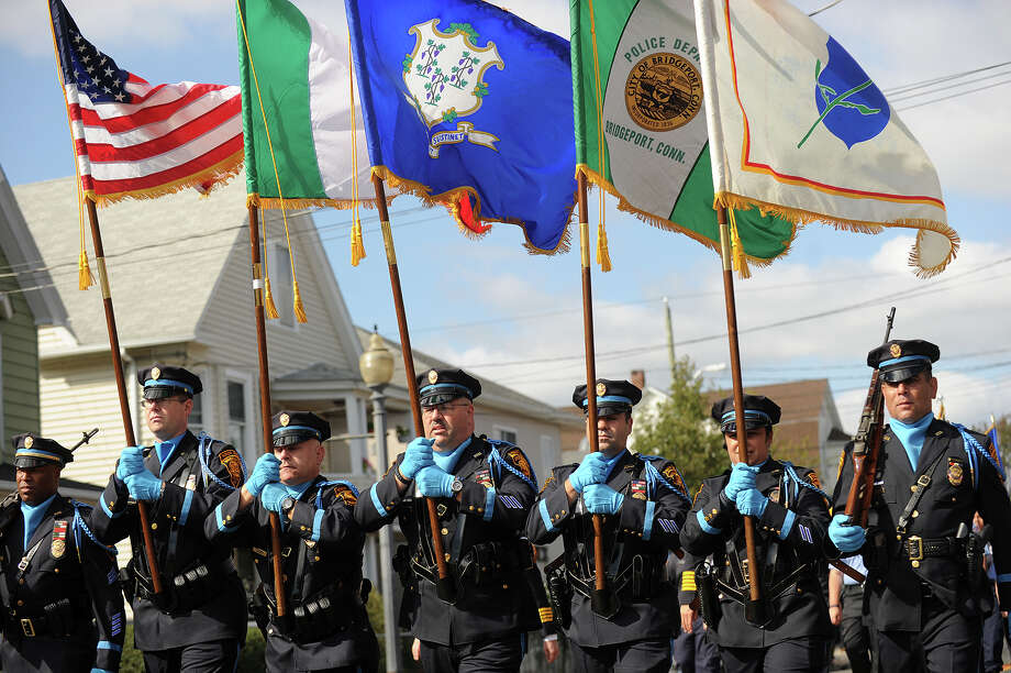 The annual Columbus Day Parade down Madison Avenue in Bridgeport, Conn. on Sunday, October 13, 2013. Photo: Brian A. Pounds / Connecticut Post