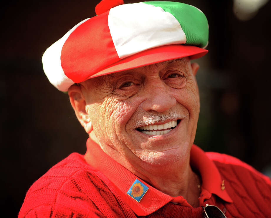 Joseph Turiano, of Fairfield, wears a hat in the colors of the Italian flag for the annual Columbus Day Parade on Madison Avenue in Bridgeport, Conn. on Sunday, October 13, 2013. Photo: Brian A. Pounds / Connecticut Post