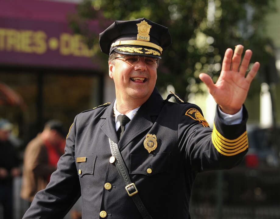 Bridgeport Police Chief Joseph Gaudet. The annual Columbus Day Parade on Madison Avenue in Bridgeport, Conn. on Sunday, October 13, 2013. Photo: Brian A. Pounds / Connecticut Post