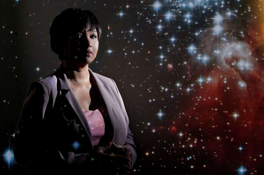 Former  NASA  astronaut Mae  Jemison is head of the Houston-based 100 Year Starship project to advance human space  travel. Photo: Marie D. De Jeséºs, Staff / © 2013 Houston Chronicle