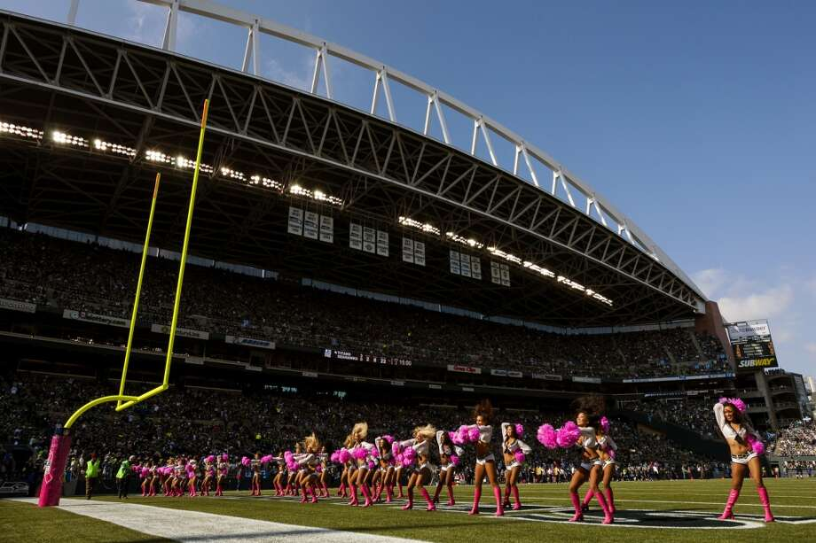 The Sea Gals perform during the first half of a game Sunday, Oct. 13, 2013, at CenturyLink Field in Seattle. The Titans led the Seahawks 10-7 at the half. (Jordan Stead, seattlepi.com) Photo: JORDAN STEAD, SEATTLEPI.COM