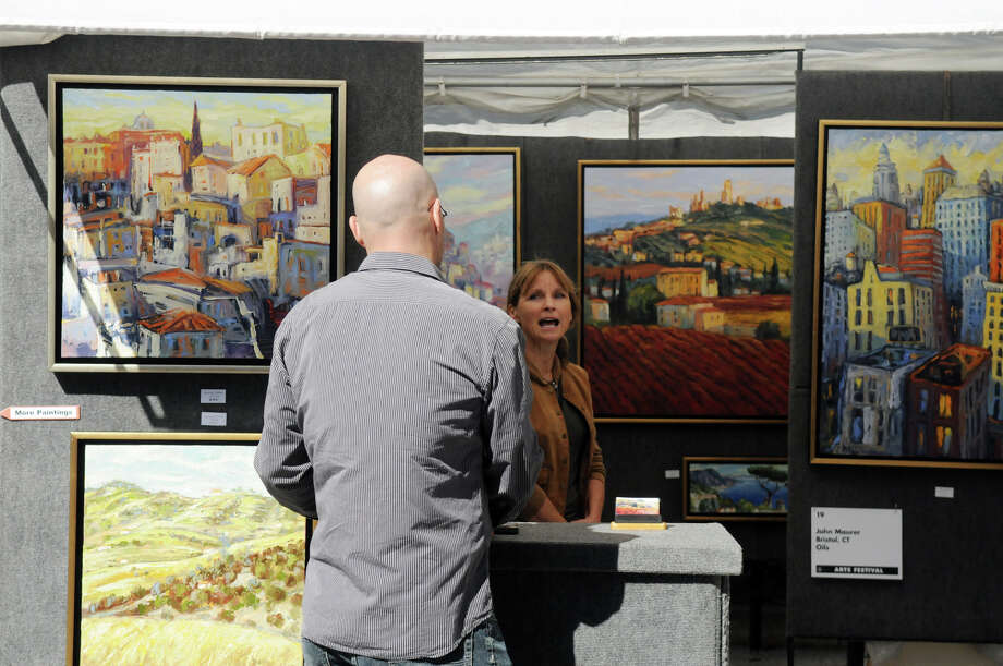 The Bruce Museum's 32nd Annual Outdoor Arts Festival featuring more than 85 artists from all over the country at the Bruce Museum in Greenwich, Conn., Oct. 12, 2013. Photo: Keelin Daly / Stamford Advocate Freelance