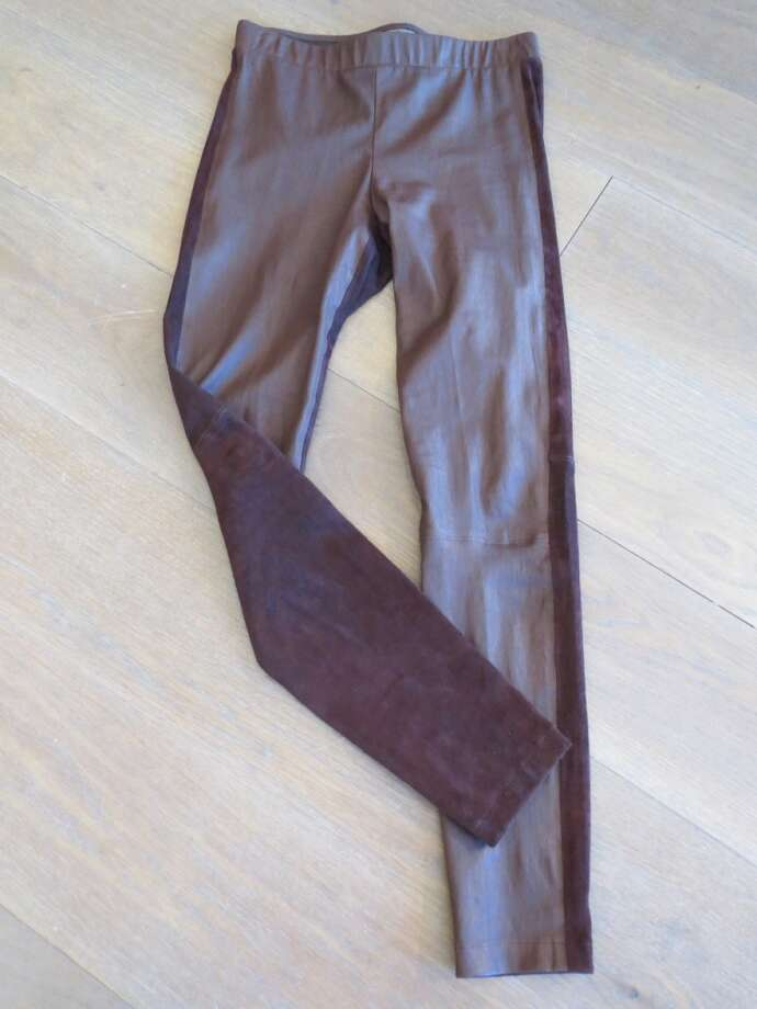 Leather leggings are so amazingly chic when worn with one of Vince's slouchy cashmere sweaters...the ultimate in relaxed luxe.  These, in burgundy leather with stretch suede back, fit like a second skin (literally!).