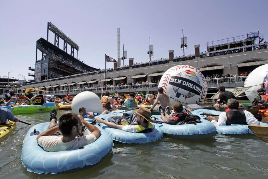 Rent a kayak and paddle to McCovey Cove. Go early on game day to catch 'splash hits' during batting practice. Photo: Chris Stewart, SFC