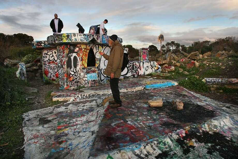 Visit 'The Castle' at the Albany Bulb for layers upon layers of street art. Photo: Frederic Larson, The Chronicle