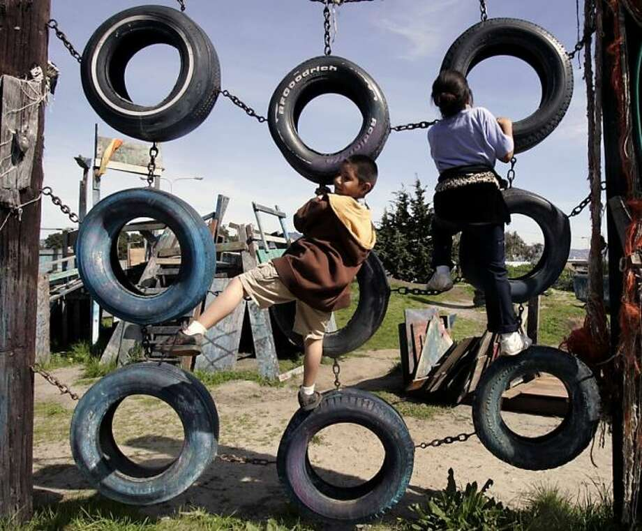 Ignore the regular playgrounds and take your kids to the fun Adventure Playground in Berkeley. Photo: Paul Chinn, The Chronicle